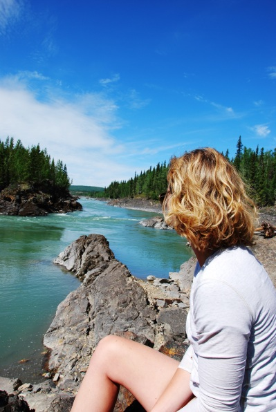 Hanging out by the River (Liard River)