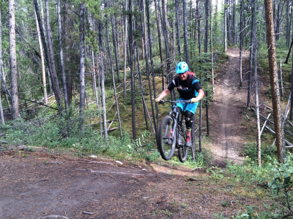 Checking out the local dirt in Whitehorse