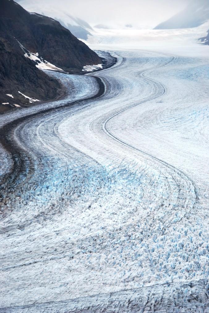 Glacier lines. Salmon Glacier, BC.