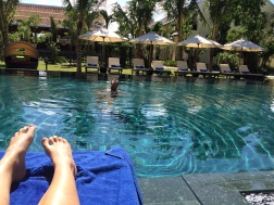 A well deserved (and well enjoyed) rest day by the pool